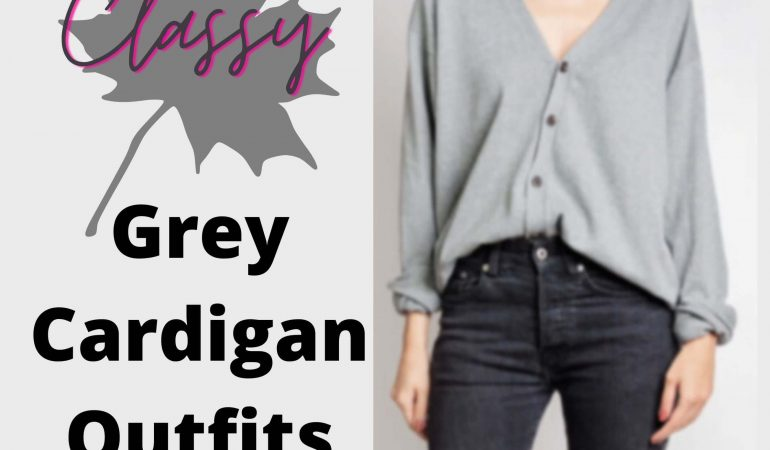 Grey cardigan outfits
