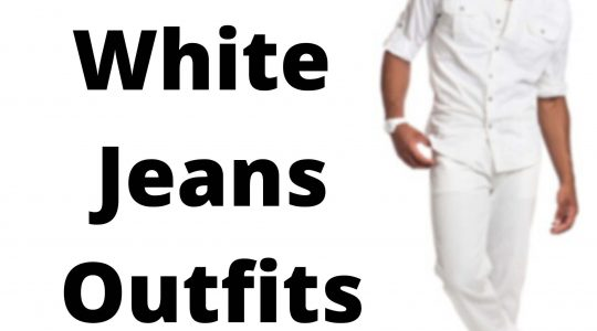 white jeans outfits men